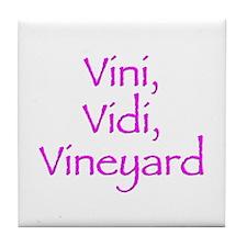 Vini Vidi Vineyard Tile Coaster
