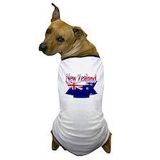 New Zealand flag ribbon Dog T-Shirt