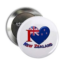 "I love New Zealand 2.25"" Button (10 pack)"