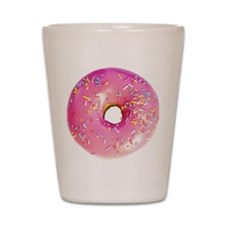 pink frosted donut Shot Glass