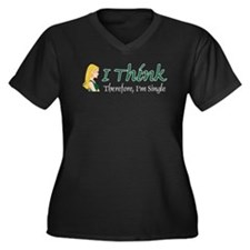 I Think Therefore I'm Single Women's Plus Size V-N
