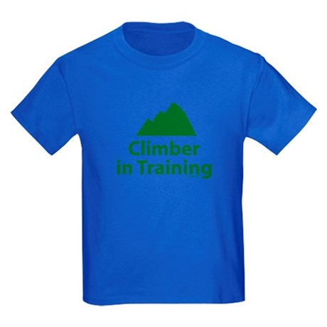 Climber in Training Kids Dark T-Shirt