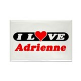 I Love Adrienne Rectangle Magnet