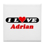 I Love Adrian Tile Coaster
