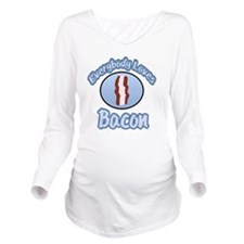 Everybody Loves Baco Long Sleeve Maternity T-Shirt