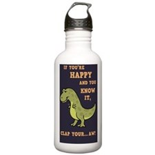 t-rex-clap-2-STKR Water Bottle