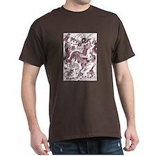 Brown Multidragon T-Shirt