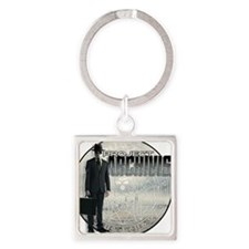 Project Archivist White T Square Keychain