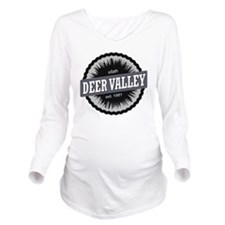 Deer Valley Ski Reso Long Sleeve Maternity T-Shirt