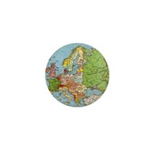 Map of Europe Mini Button