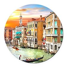 Venice Photo Round Car Magnet