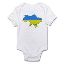 Flag Of Ukraine Map Outline Infant Bodysuit
