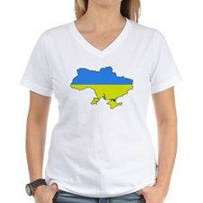 Flag Of Ukraine Map Outline Shirt