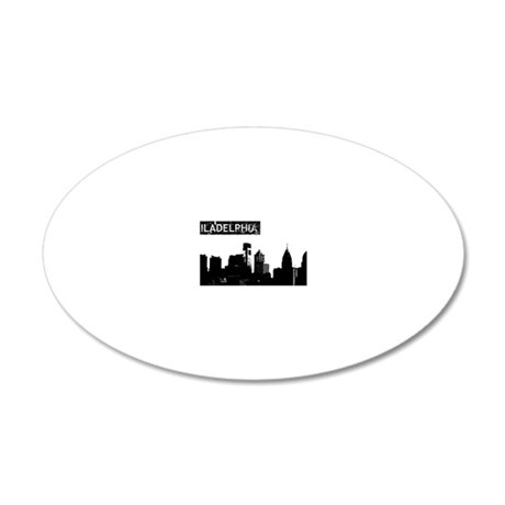 Philadelphia Skyline 20x12 Oval Wall Decal