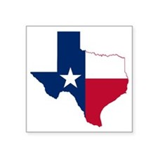 Texas Flag Map Square Sticker 3quot X 3quot For
