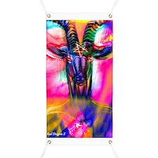 Psychedelic Baphomet Banner