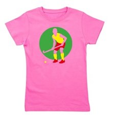 field hockey player Girl's Tee