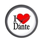 I Love Dante Wall Clock
