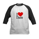 I Love Dante Kids Baseball Jersey