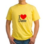I Love Dante Yellow T-Shirt