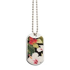 Aloha Shirt Hibiscus Black Dog Tags