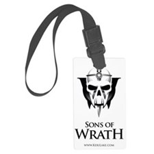 sons of wrath black font Luggage Tag