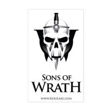 sons of wrath black font Decal
