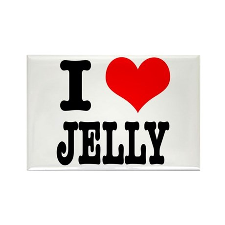 I Heart (Love) Jelly Rectangle Magnet