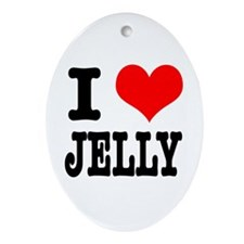 I Heart (Love) Jelly Oval Ornament
