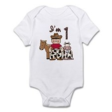 Cowboy First Birthday Infant Bodysuit