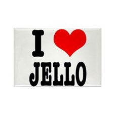 I Heart (Love) Jello Rectangle Magnet (100 pack)