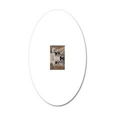 (21p) Llama 8716 20x12 Oval Wall Decal