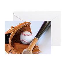 baseball equipment Greeting Card