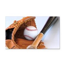 baseball equipment Rectangle Car Magnet