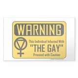 """The Gay"" Sticker (Rect.)"