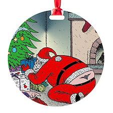 Santas tramp stamp Ornament