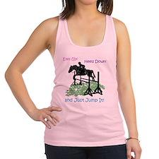 Fun Hunter/Jumper Equestrian Ho Racerback Tank Top