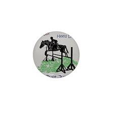 Fun Hunter/Jumper Equestrian Horse Mini Button