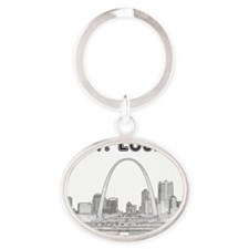 StLouis_10x10_Downtown_Black Oval Keychain