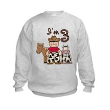 Cowboy 3rd Birthday Sweatshirt