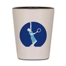 male tennis player Shot Glass