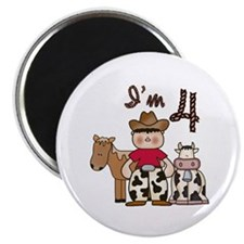 "Cowboy 4th Birthday 2.25"" Magnet (10 pack)"