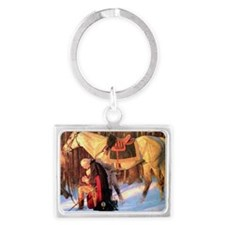 Mt. Vernon Painting of George W Landscape Keychain