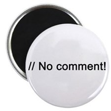 "No Comment PHP 2.25"" Magnet (10 pack)"