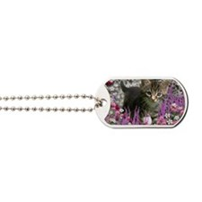 Emma Tabby Kitten in Flowers I Dog Tags