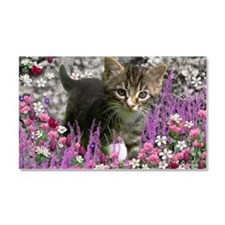 Emma Tabby Kitten in Flowers I Car Magnet 20 x 12