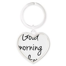 Good morning Handsome Heart Keychain