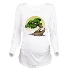 Bonsai Zen tree Long Sleeve Maternity T-Shirt