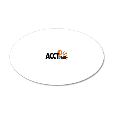 ACCT Philly logo 20x12 Oval Wall Decal