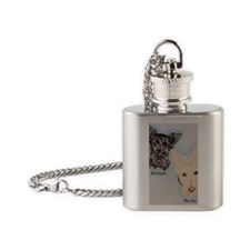 Buttons and Baylee Flask Necklace